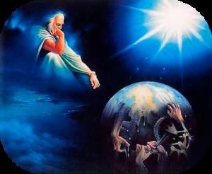 Dieu regardant le monde