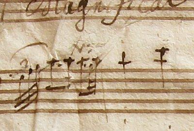 Notes de musique de Dieu