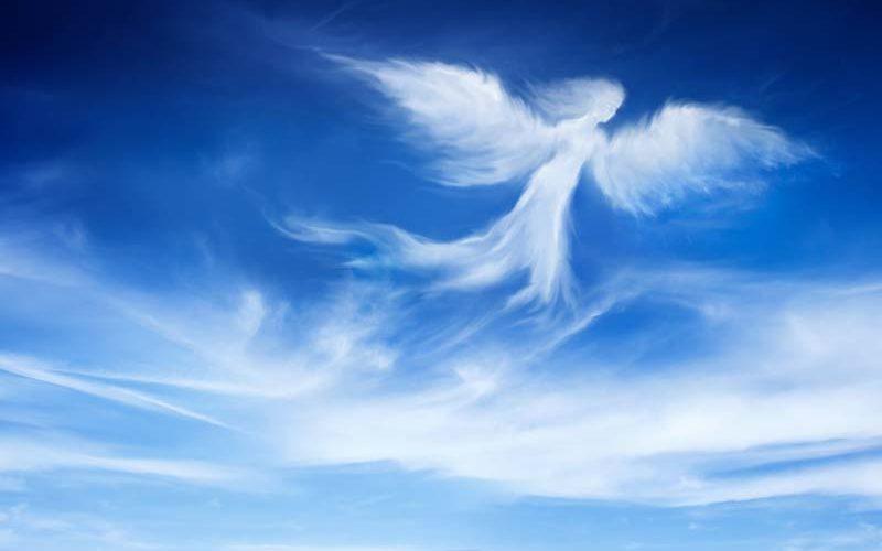 Nuage en forme d'ange