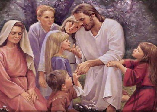 Jésus entouré d'enfants