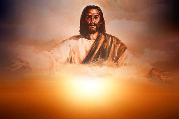 Jésus au dessus du ciel, gardien de l'éternité