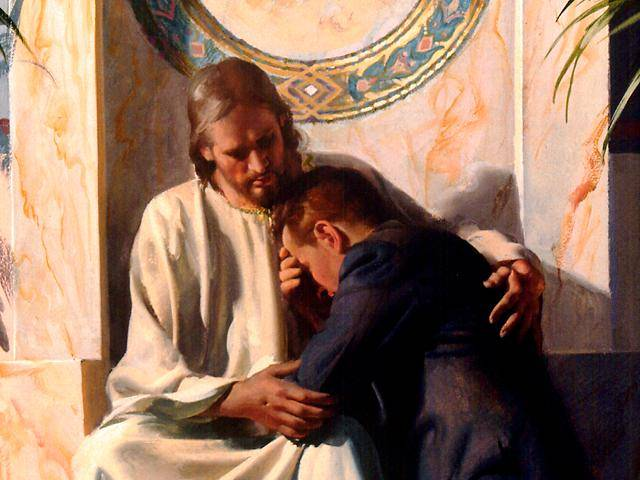 Jésus soutient un chrétien