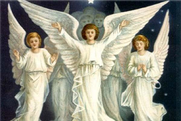 Tableau représentant des anges de Jésus